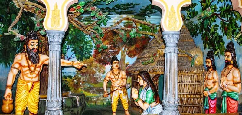 भगवान परशुराम को अपने माता की हत्या करने का आदेश देते उनके पिता