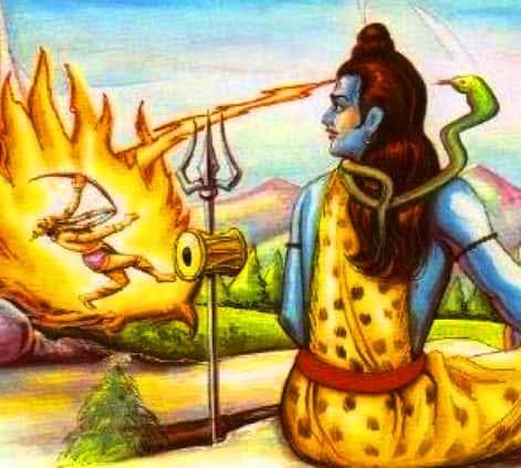 shiv burned Kamdev
